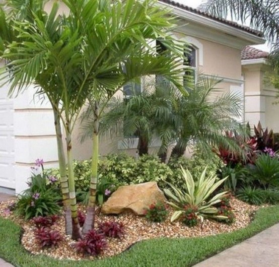 Fantastic Flower Landscape Design Ideas For Front Yard 02