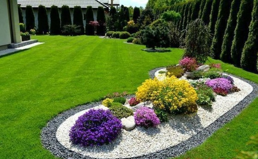Fantastic Flower Landscape Design Ideas For Front Yard 05