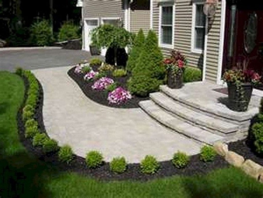 Fantastic Flower Landscape Design Ideas For Front Yard 06