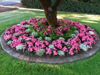 Perfect Bed Garden Design For Your Front Yard 05
