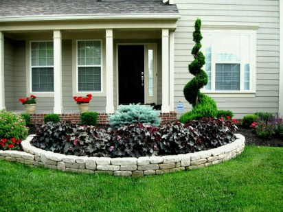 Perfect Bed Garden Design For Your Front Yard 12