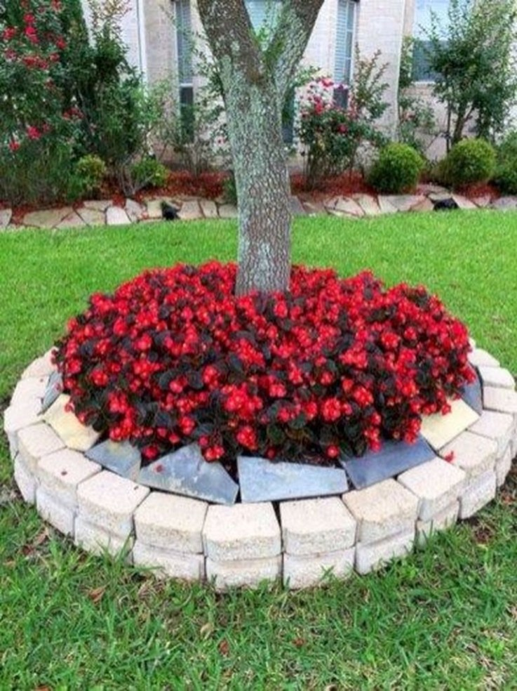 Perfect Bed Garden Design For Your Front Yard 20