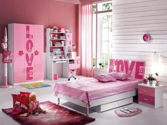 Lovely Small Bedroom Decor With Pink Nuance 10