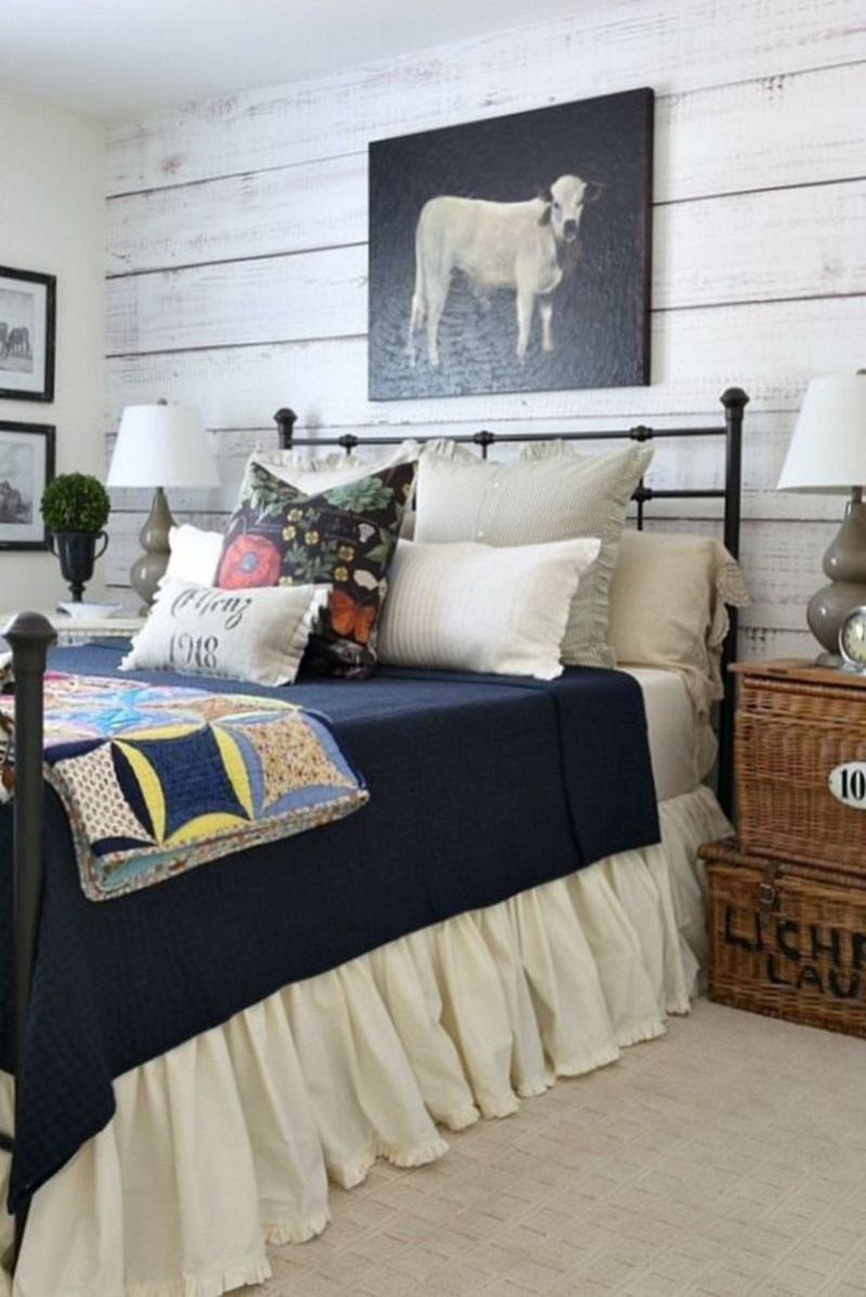 Nice Fall Bedroom Decoration For Farmhouse Style 15