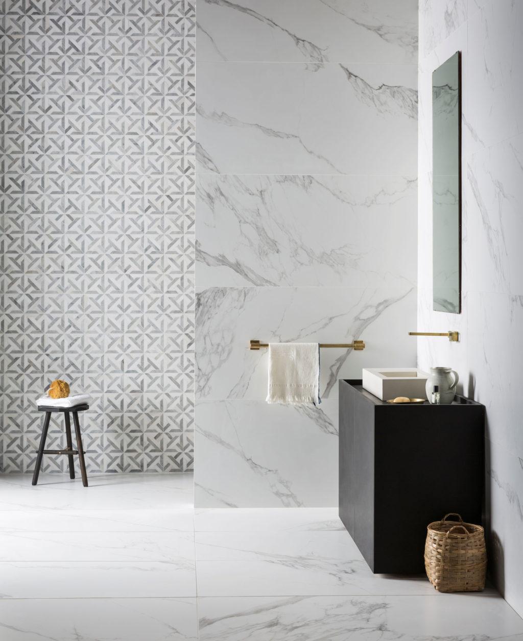best marble effect bathroom tiles
