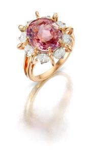padparacha sapphire oscar heyman ring