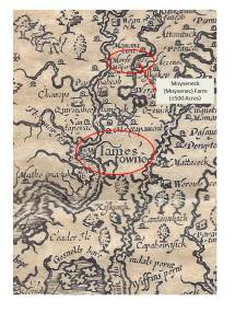 "The Farm is identified on John Smith's historic map of the James River system--it was the ""Moysenec"" village."