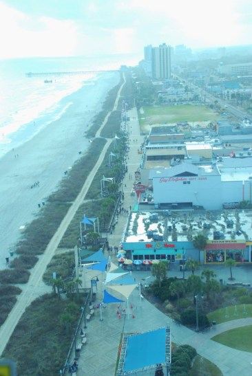 Long view of Myrtle Beach south of the SkyWheel