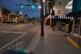 Myrtle Beach Street at 6:30 am