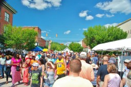 The Festival covers the entire main street in South Pittsburgh.