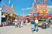 Food is everywhere, including here on the Midway.