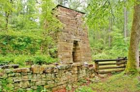 Roaring Run Furnace, a Colonial era iron smelting furnace.