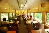 Interior of Car C. Comfortable Seating, Dining and Viewing