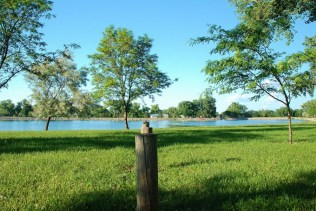 Atwood's Lions Park has a beautiful lake.