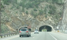 This tunnel is at the high point of I-70 in the Rockies. There is, however, another road that travels even higher for vehicles carrying hazardous materials not permitted in the tunnels.