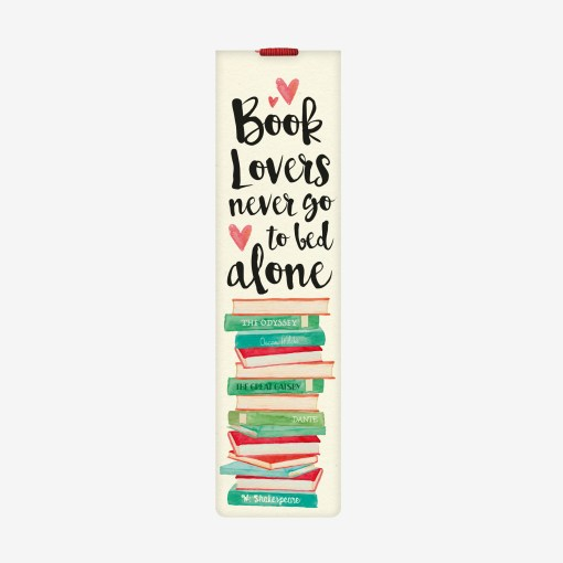 Kitap Ayracı - Books Lovers Never Go To Bed Alone - Legami