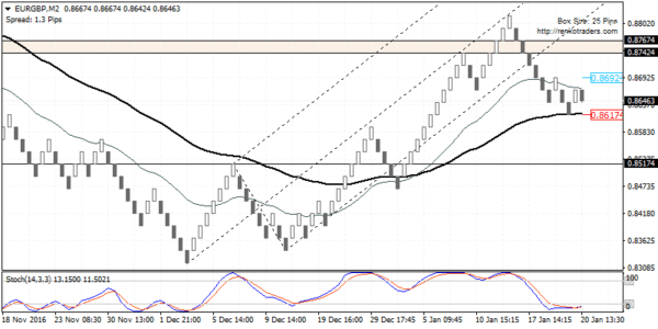 EURGBP could retest 0.8767 - 0.8742