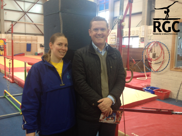 Alan Cheevers with RGC Coach Samantha Marciano