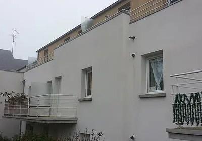 Nettoyage de façade d'une copropriété à Acigné (35)