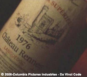 Gros plan sur la Tour Magdala de l'étiquette de la bouteille de vin