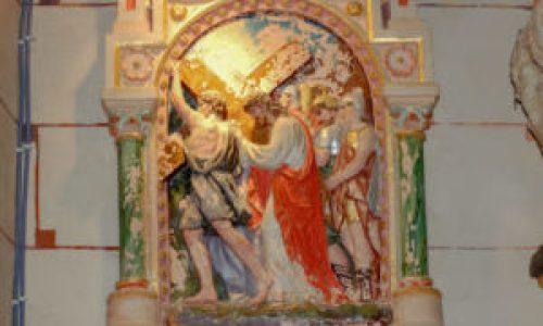 Station V du chemin de croix de l'église de Rennes-Le-Château