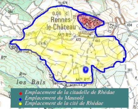 Implantation de la Cité de Rhédae