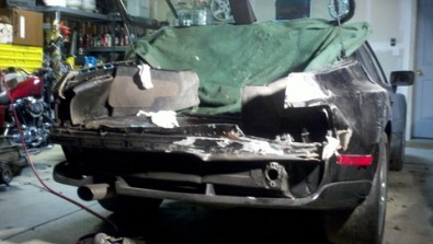Image result for porsche 944 rear end crash