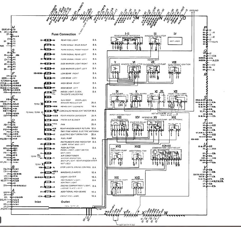 605556d1328566942 84 euro relay fuse chart fuse and relay?resize=665%2C627&ssl=1 porsche 928 wiring diagram the best wiring diagram 2017 1980 porsche 928 wiring diagram at soozxer.org