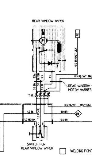 951 rear wiper wiring diagram  Rennlist  Porsche Discussion Forums