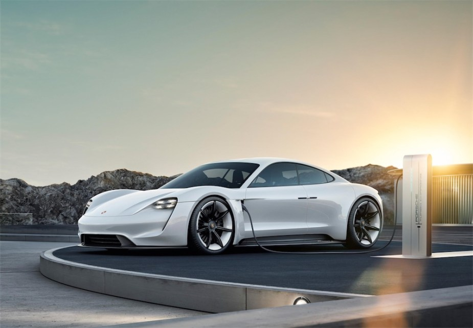 The Taycan is Porche's first full EV.