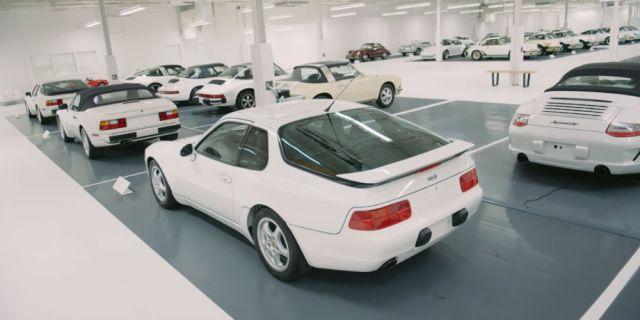 All-White Porsche Collection