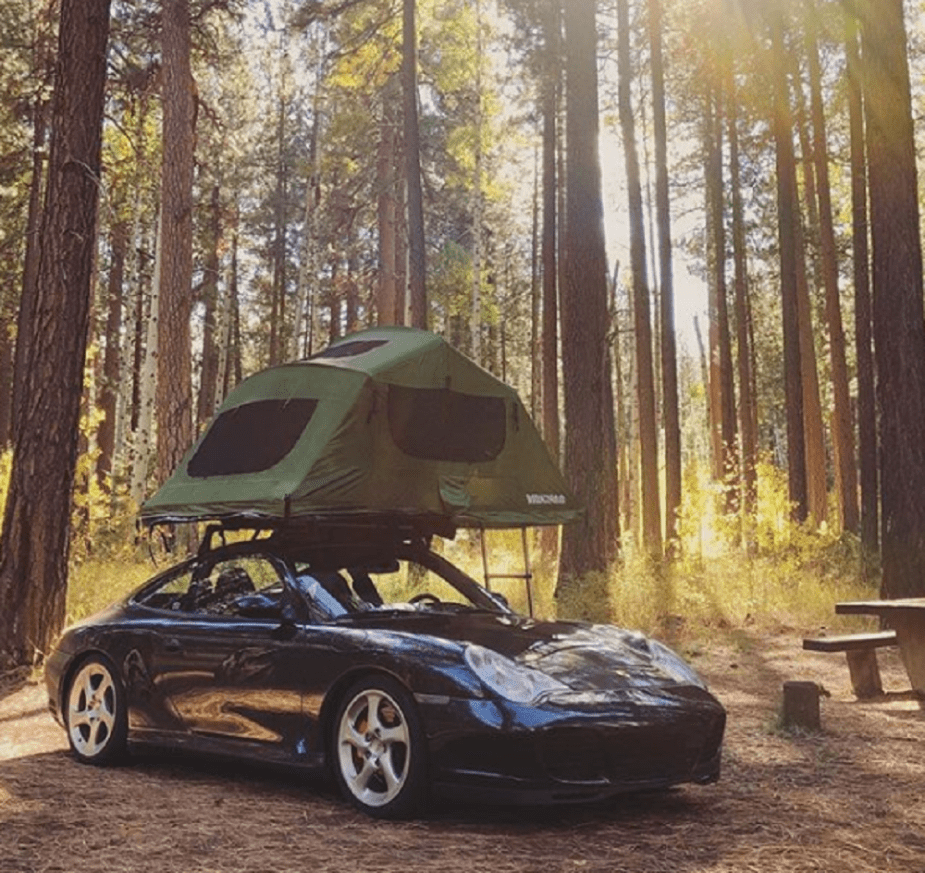 Porsche 996 road tripping + camping