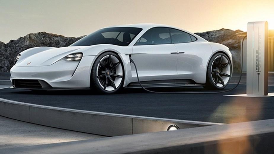 Porsche Mission E w fast charger