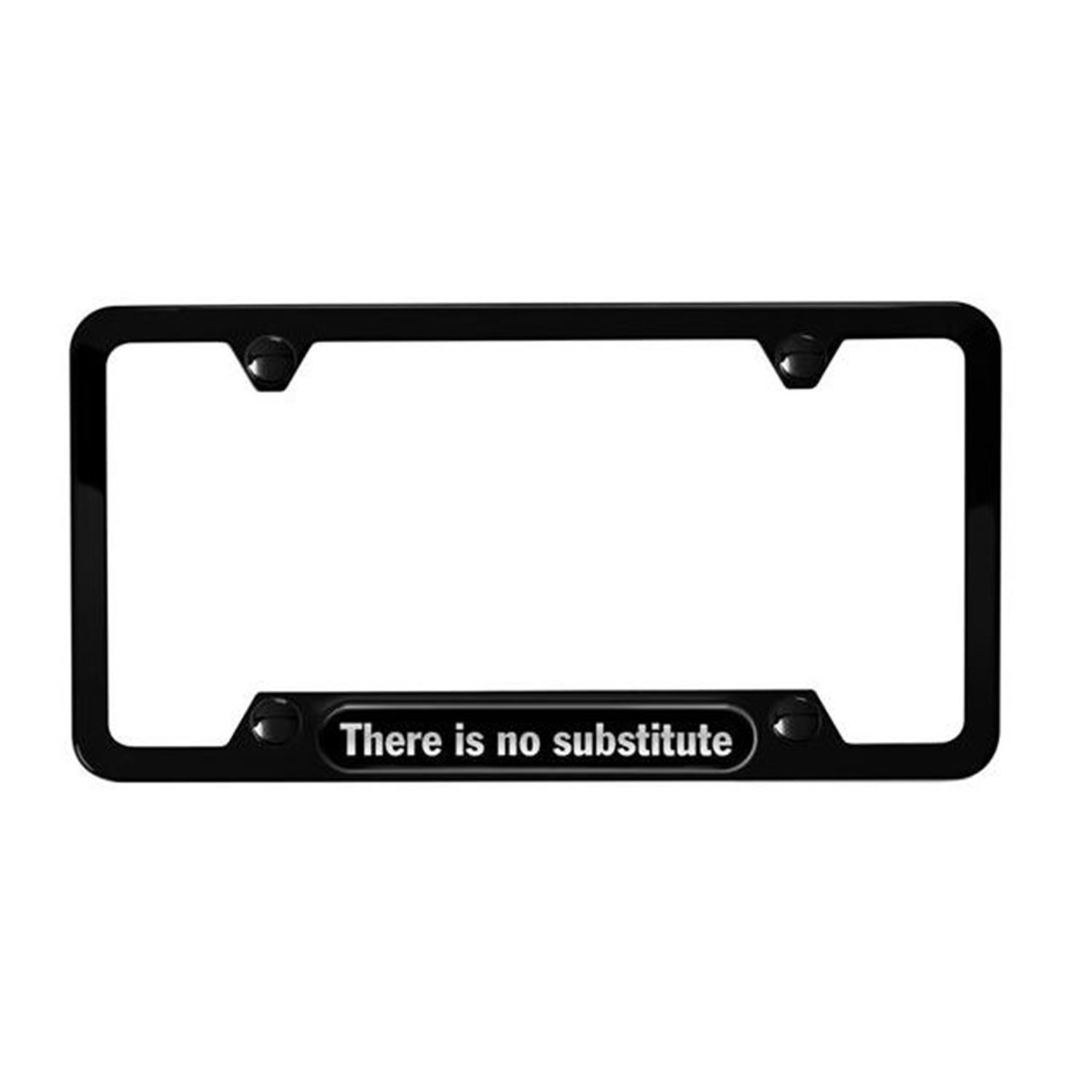 Porsche License Plate Frame There Is No Substitute