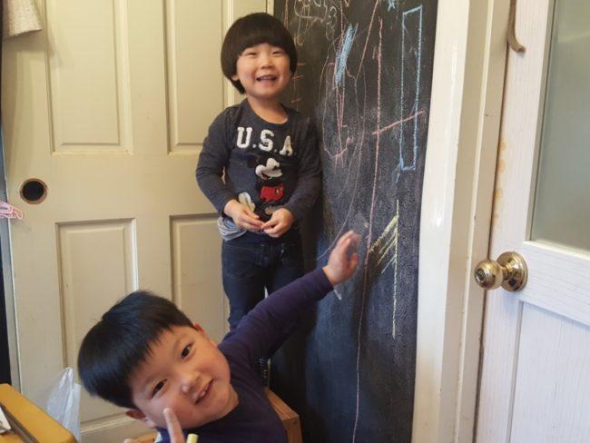 黒板塗料 チョーク