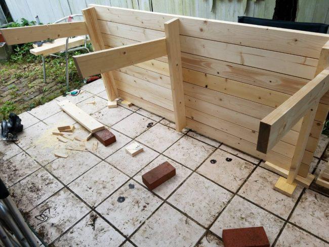 ガーデンテーブル DIY 作る
