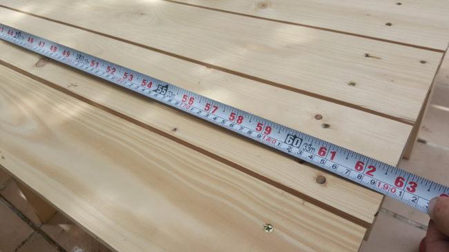 ガーデンテーブル 大きさ
