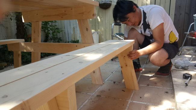 ガーデンテーブル DIY