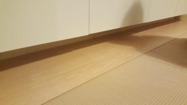 和室の畳寄せ 板の間