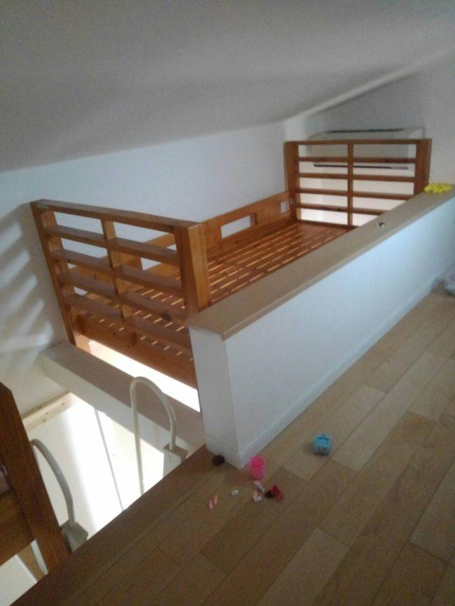 空間にベッドを作る
