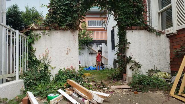 お庭の扉解体後