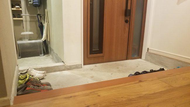 玄関の土間 DIYリフォーム