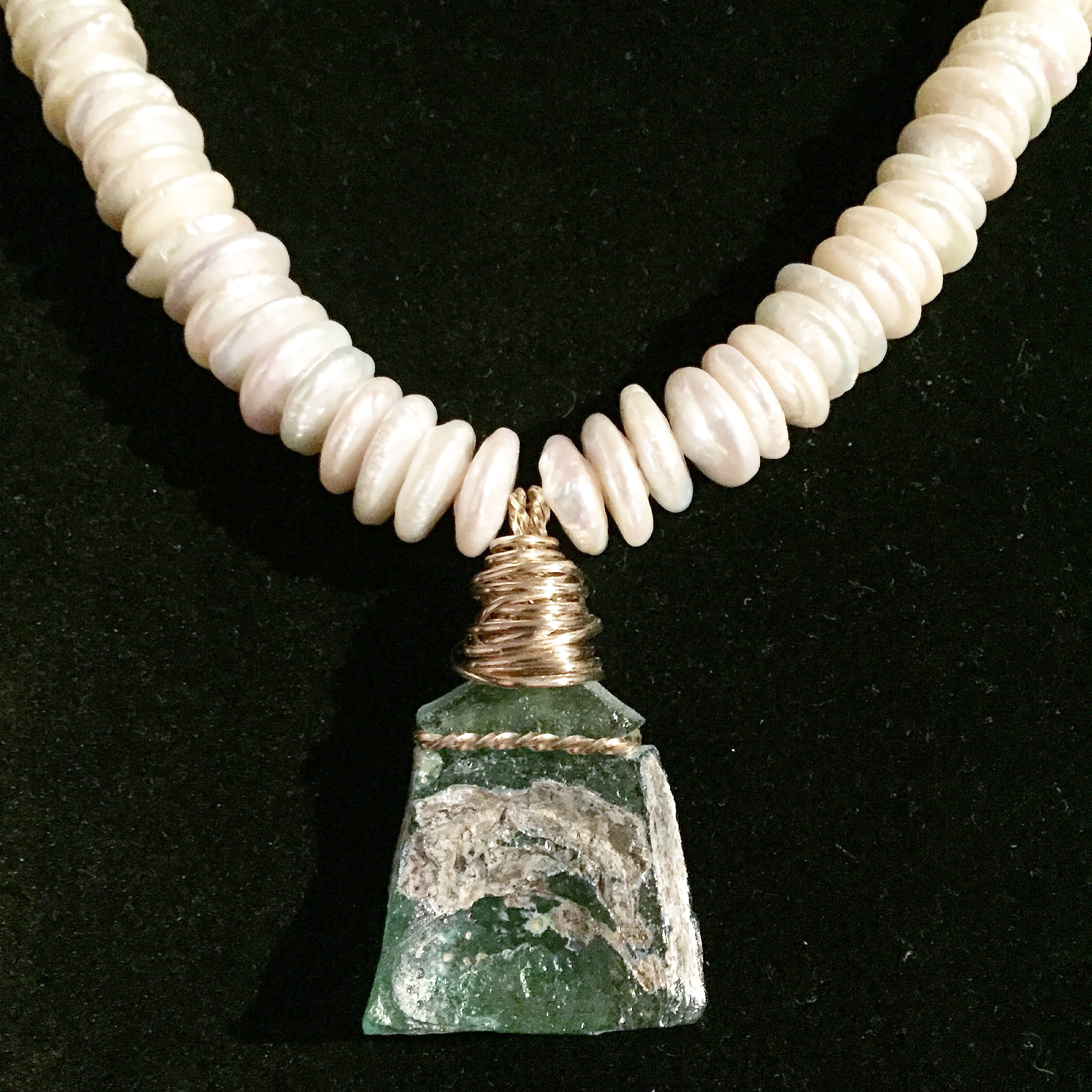 Kathleen Hallamore-Best 2000 Year Old Roman Glass and Coin Pearls