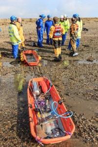 Lymington Coastguard Mud Rescue Excercise