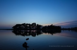 ISO 100, F18, 1/6 sec - Hatchet Pond at sunset
