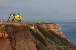 Sigma 150-500mm lens, ISO 1600, F5, 1/400 sec - Rescue Officer over the cliff.