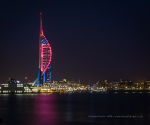 ISO400, f13. 15secs - Spinnaker Tower in Pink