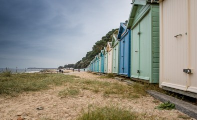 Beach huts and dunes - ISO200, F13, 1/30sec