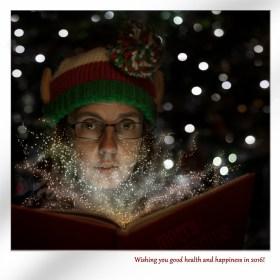 Christmas Profile photo with photoshop edit.