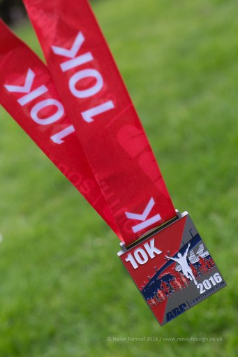 April 10k finishers medal